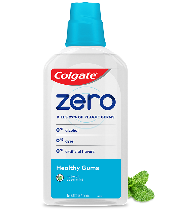 Packshot of Colgate<sup>®</sup> Zero Mouthwash Healthy Gums
