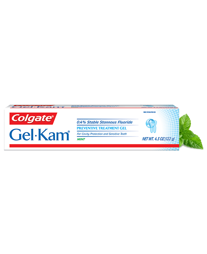 Packshot of Colgate<sup>®</sup> Gel-Kam Preventative Treatment Gel