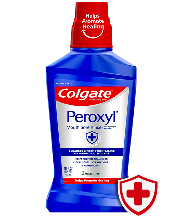 Packshot of Colgate<sup>®</sup> Peroxyl<sup>®</sup> Mouth Sore Rinse