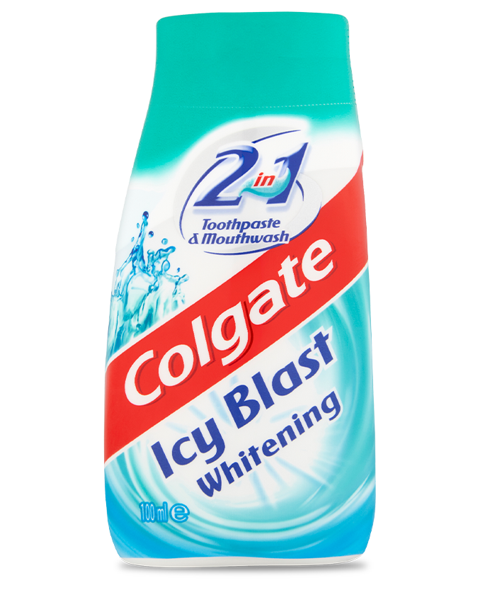 Packshot of Colgate<sup>®</sup> 2in1 Icy Blast
