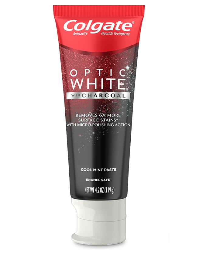 Packshot of Optic White<sup>®</sup> with Charcoal Toothpaste