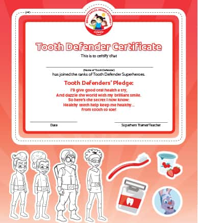 tooth defender certificate