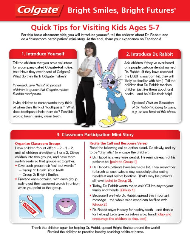 Classroom Visit Guide for Volunteers (Ages 5-7)