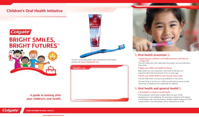Parent Take-Home Oral Care Brochure