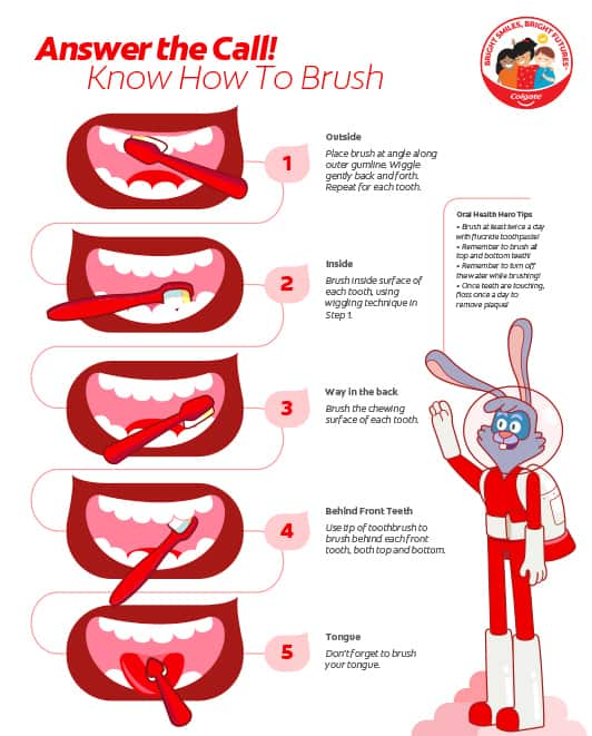 Wall Poster: Know How to Brush (side 2)