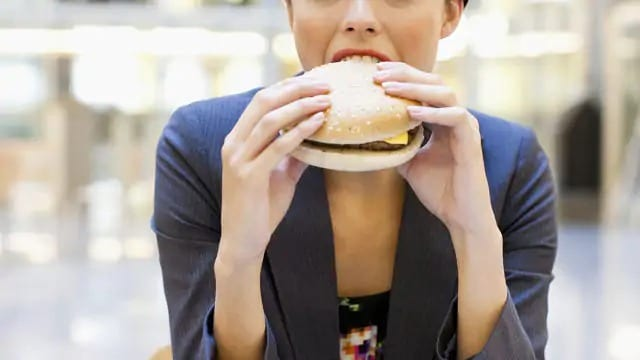 woman eating tooth-friendly food