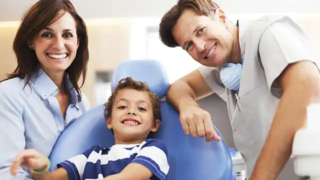 family asking dentist questions