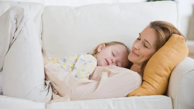 Child Sleeping Soundly while Teething