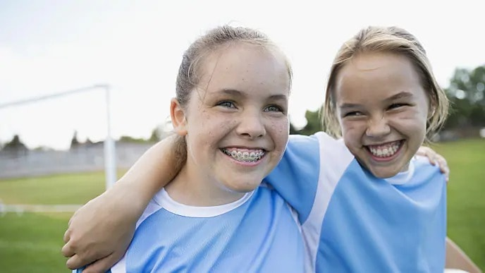 kids with braces to prevent tooth decay