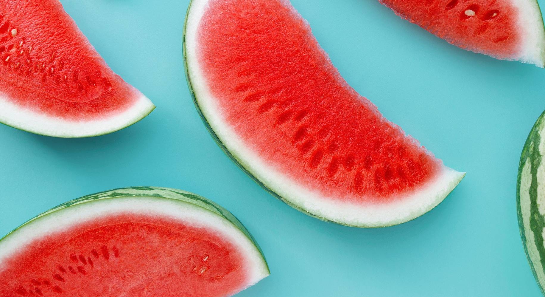 slices of watermelon on a table