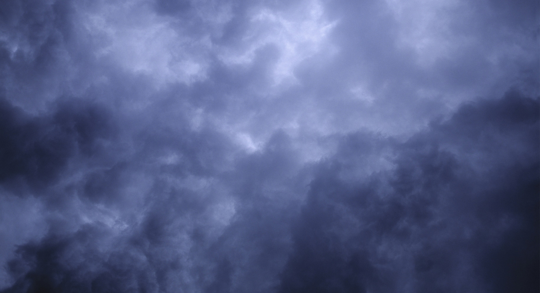 view of dark stormy clouds