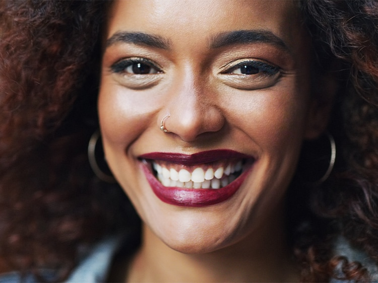 close up of smiling woman