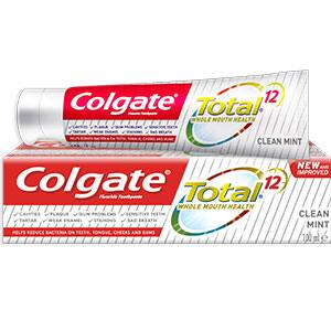 COLGATE® TOTAL® 12 CLEAN MINT TOOTHPASTE