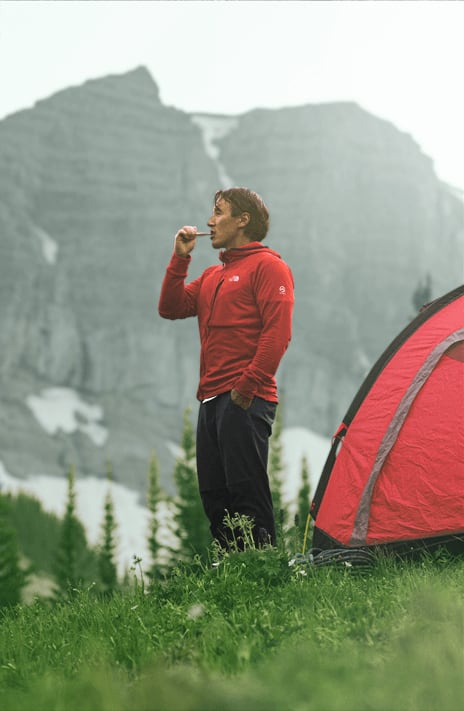 jimmy chin climber brushing teeth 1