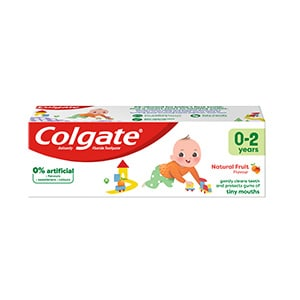Colgate Kids Natural Fruit Flavour Baby Toothpaste 0-2 Years 50ml
