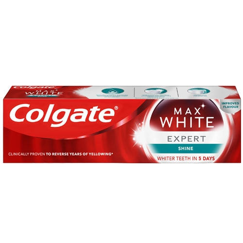Colgate Max White Expert Shine Glossy Mint Toothpaste 75ml