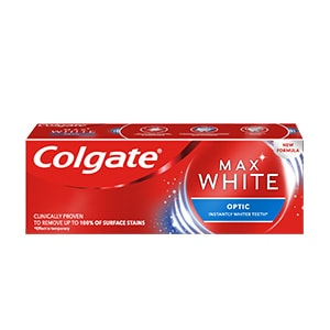 COLGATE MAX WHITE OPTIC WHITENING TOOTHPASTE 20ML