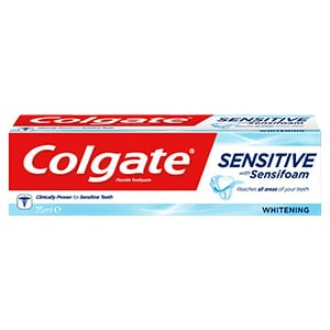 Colgate Sensitive with Sensifoam Whitening Toothpaste 75ml