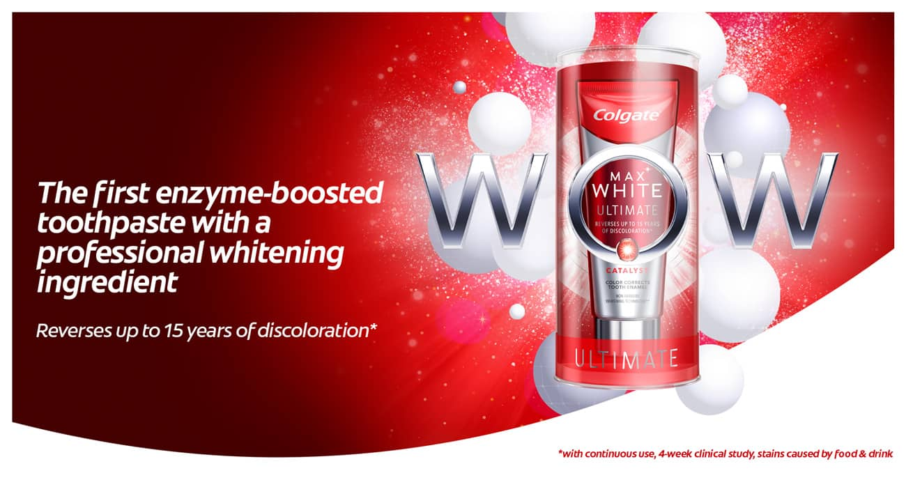 Max White Ultimate - The first enzyme-boosted toothpaste with a professional whitening ingredient