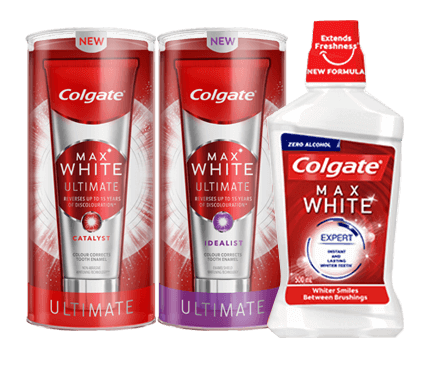 COLGATE MAX WHITE ONE®  LINE OF PRODUCTS