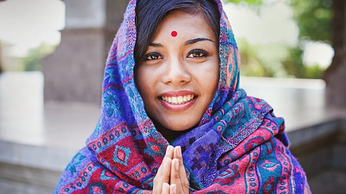 indian woman with a perfect smile
