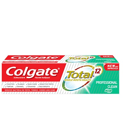 Colgate Total Professional Clean Toothpaste Packshot