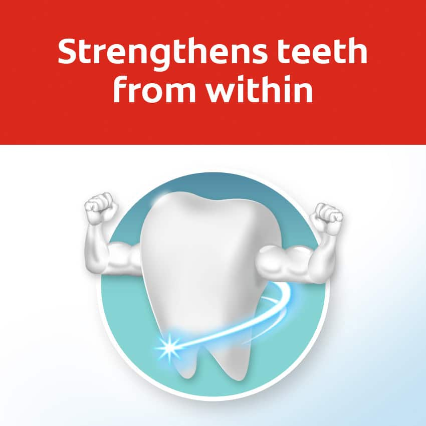 strengthens teeth from within