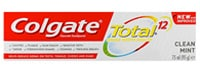 COLGATE® TOTAL® 12 CLEAN MINT, MULTI- BENEFIT TOOTHPASTE
