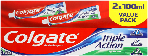 Colgate® Triple Action Twin Pack