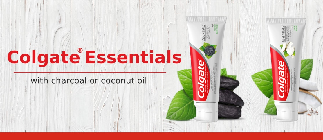 Colgate® Essentials™ Toothpaste with Charcoal or Coconut Oil