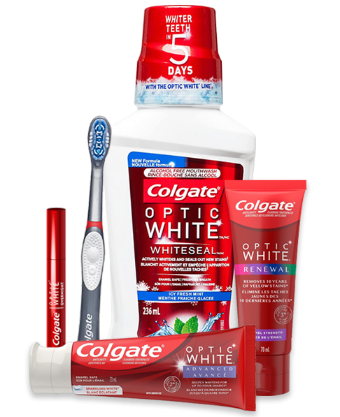 Colgate Optic White Products