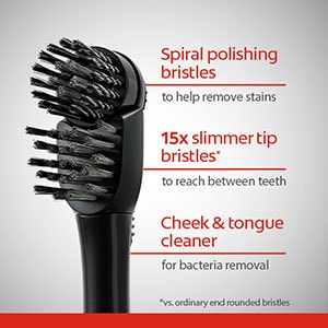 Colgate® 360° Total® Battery Powered Charcoal Toothbrush, Soft Toothbrush