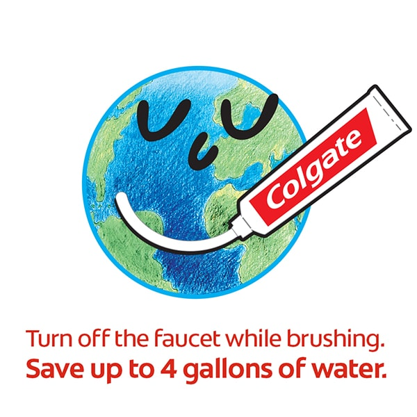 brush teeth save water