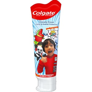 Colgate Kids Toothpaste with Fluoride, Ryan's World, 4.6 ounces