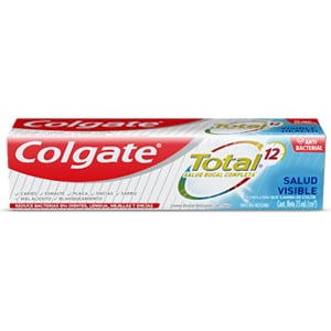 Crema Dental Colgate<sup>®</sup> Total 12 Salud Visible