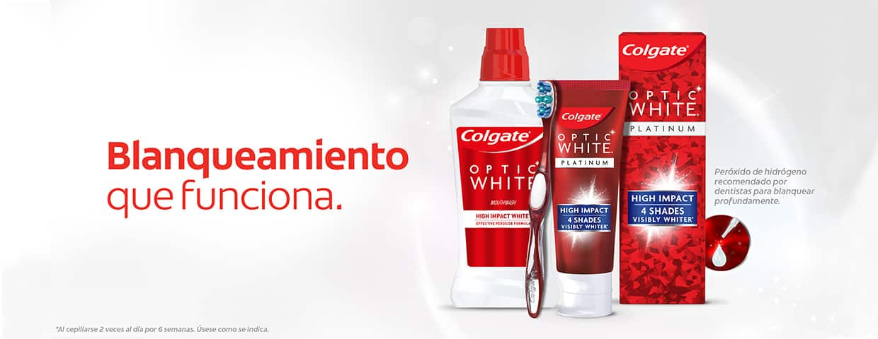 Colgate® Optic White® Cómo blanquear los dientes con Colgate® Optic White®