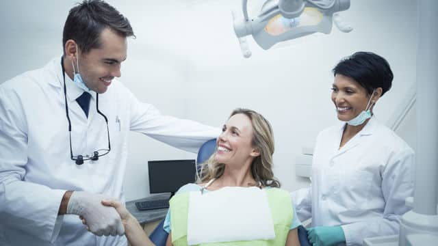 woman in dental office