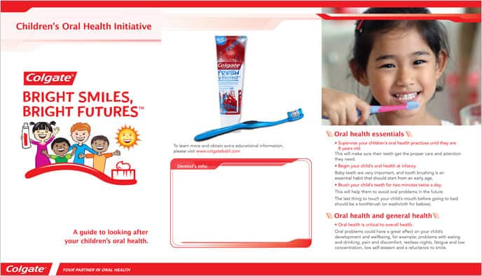 Tooth Defenders Parent Take Home Oral Care Brochure