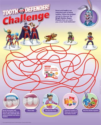 Tooth Defenders Printable Oral Health Maze Challenge