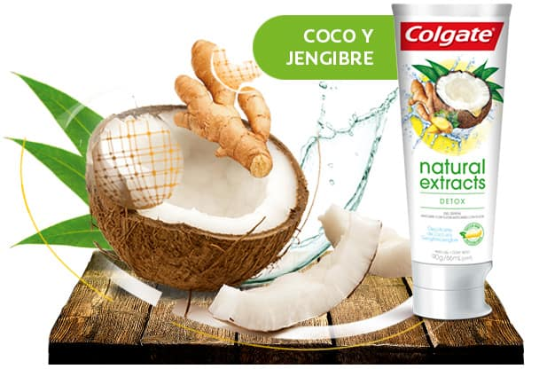Ingrediente Extracto de Jengibre y Coco